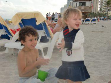 Efter poole gick vi ner till stranden...