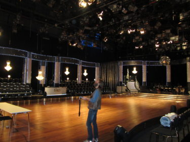 Så här tom var studion imorse. Annat blir det imorgon.