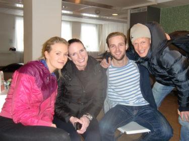 Malin, Lotta, Min Calle och Tobias. Proffsen!