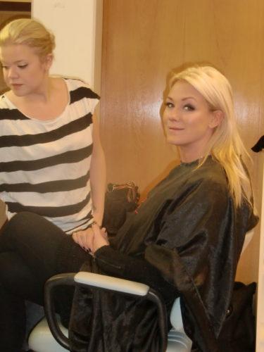 På min andra sida satt Jessica Andersson. Igår blev hon årets artsist och årets låt på Svenktoppen. Grattis!