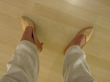 Inte de skönaste skorna, inte snyggaste heller för den delen. Kanske beror det på min övriga outfit. Mjukisbyxa med Gällivarehäng.