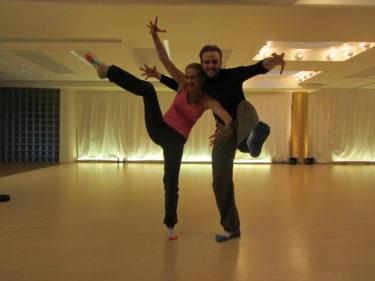 jag och Calle körde kråkdansen.