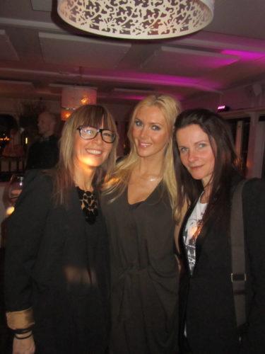 Tv 4-tjejerna Anna och Inge-Gerd och jag.