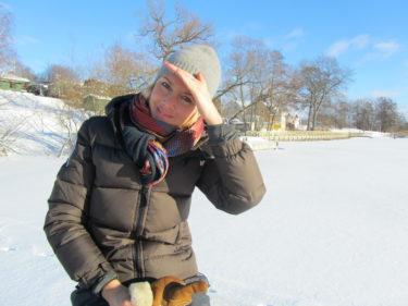 Trpts att det var några minusgrader så blev man varm i solen och jag hade byllsat på mig på tok för mucket.
