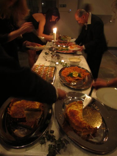 Vi bjöds på god mat.