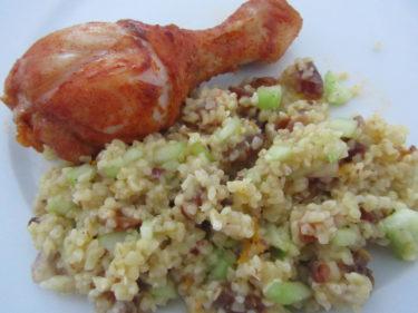 Till middag blev det kanelstekta kycklingben med en touch av Nordafrika.