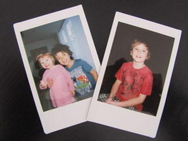 Lite kul var det dock när jag såg barnens etusiasm när de såg bilderna på dem själva långsamt träda fram.