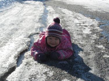 Tvåårstrotsen slog till och hon vägrade för en stund att gå :-)