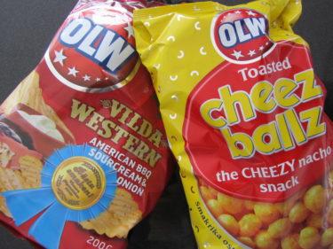 Köpte hem en ny smak på chips från OLW. Vilda Western med Ranch-dipp till var snuskigt gott! Deras ostbollar och ostbågar är de bästa! Mitt första tv-reklamjobb var för OLW ostbågar när jag var 17 år. Cheezuz :-)