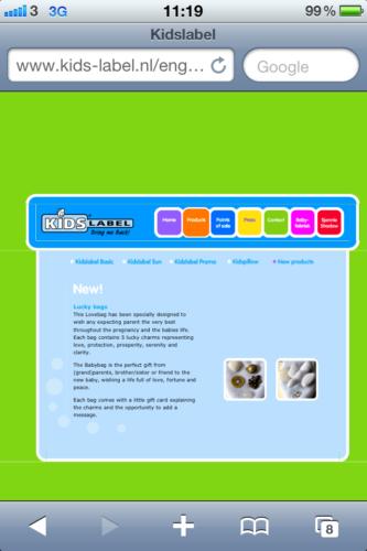 Det finns två olika lyckopåsar på Kidslabel.nl