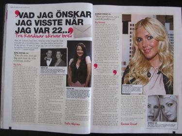 Det är jag, Sanna Nielsen och Sofia Wistam som skriver till oss själva.