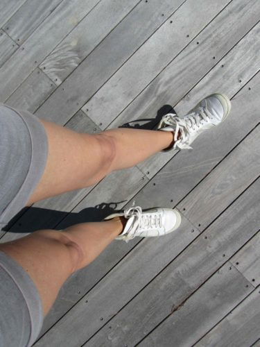 Idag har jag bara ben. solen skiner och värmer så undwrbart skönt.