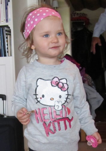 Hittade den här tröjan på rean på H&M till Liv. Hon älskar Hello Kitty. Själv ogillar jag denna typ av kläder med print.