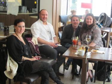 Annelie, Kristoffer, Lill-Magnus och Anna satt kvar båda sittningarna för att få höra mer av Samuel och Andre.