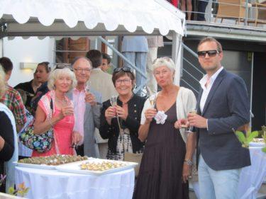 Peter, Ulla-Britt, marianne, hennes bror Göran med fru Agneta.