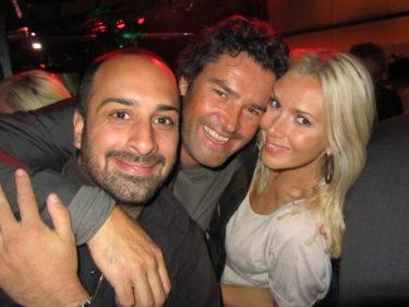 Trevliga Jonas som är chefar på Café Opera, Emile och jag.