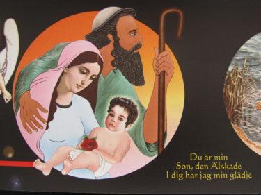Känner igen Jesusbarnets lilla ansiktet. Det är Leon, min lillebror :-)