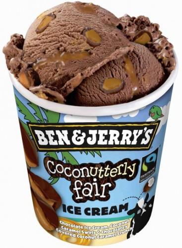 Coconutterly Fair är en chokladglass fylld med kokoskolasås och härlig chokladknäck. Den här var Mios favorit. Tror även att det kommer bli Livs. Hon ska få smaka det som finns kvar, bottenskrapet, när hon kommer hem från förskolan. Nästa gång får hon vara med från början.