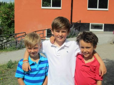 Tre coola kusiner! Det var Tristan första skolavslutning.