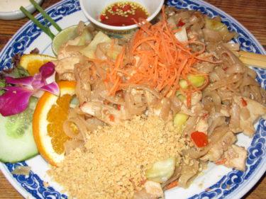 ... och Pad Thai var några av de goda rätterna vi åt.