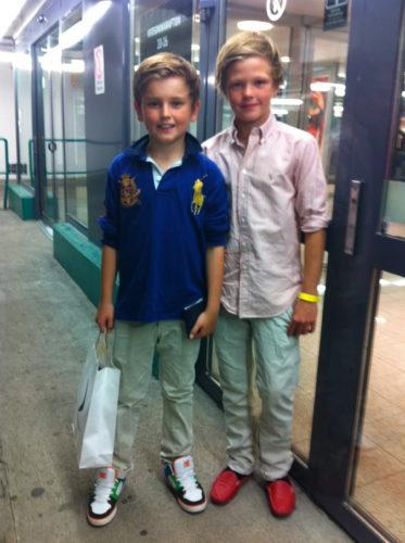 Willaim och Lance fick känna på att vara riktigt stora. Gå på bio och shoppa på egen hand. Det uppskattades.