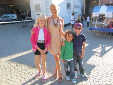 Louise, jag, Mio och William.