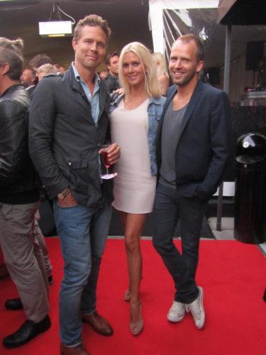 Fick posera mellan stiliga med Mathias och Per.