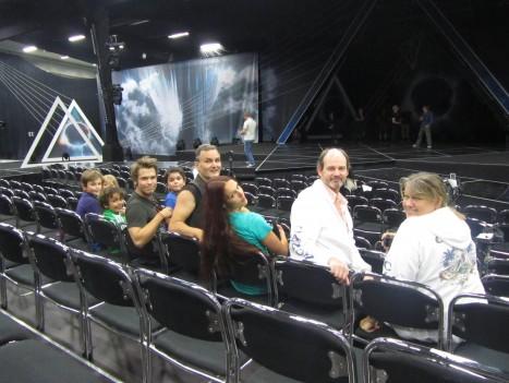 William, Liv, Mio, Stefan, Leon, pappa, marie, pappas bror P-O och hans fru Eva var bästa publiken.