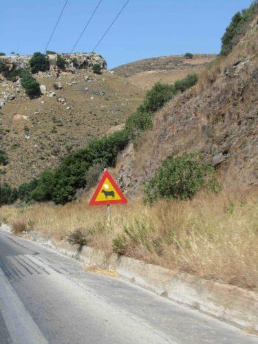 Varning för bergsko? Trodde mer på bergsgetter! Visst ser det ut som en ko?