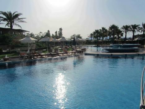Efter dagens sol och bad på Falassarna for vi tillbaka till vårt hotell Minoa Palace.