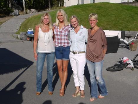 Camilla, jag, Tone och Charlotta.