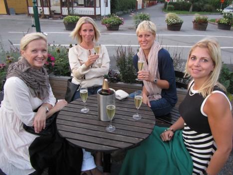 Bästa tjejerna. Tone, Rosie, Charlotta och Camilla.